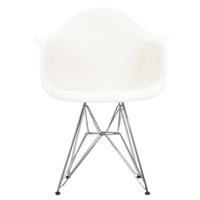 Şaziye Metal Eames Kollu İthal Sandalye Tel Ayaklı- Bej