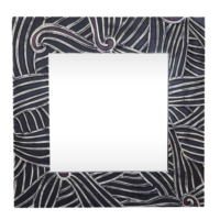 Arte El Yapımı Siyah 2 Deri Ayna