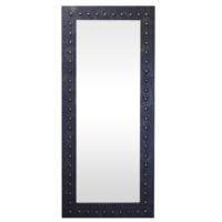 Arte El Yapımı Deri Yuvarlak Çıkıntılı Boy Aynası