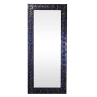 Arte El Yapımı Deri Yuvarlak Çıkıntılı 2 Boy Aynası