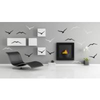 Besta Siyah Beyaz Kuşlar Duvar Sticker