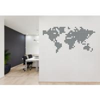 Besta Pixel Dünya Haritası Duvar Sticker
