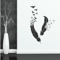 Besta Kuş Tüyler Duvar Sticker
