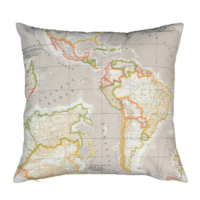Mika Home Dekoratif Yastık - Map
