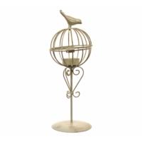 DecoTown Metal Kuş Desenli Mumluk