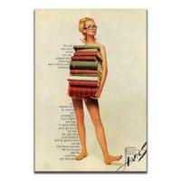 Dolce Home Dekoratif Vintage Mdf Tablo Kitaplar