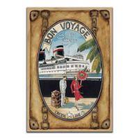 Dolce Home Dekoratif Vintage Mdf Tablo Bon Voyoge