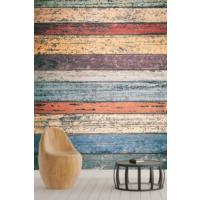 Pidekorasyon Renkli Ahşap Desenli Duvar Kağıdı - 2051