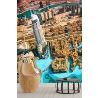 Pidekorasyon Şehir Manzara Desenli Duvar Kağıdı - 4018