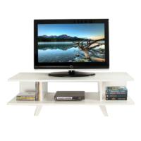 Ankara Mobilya 120 lik Kapaksız Beyaz Tv Sehpası Parlak Beyaz