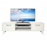 Ankara Mobilya 140 lık Parlak Beyaz Tv Sehpası Parlak Beyaz