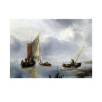 ARTİKEL Jan Van De Cappelle - A Small Vessel in Light Airs, and Another Ashore 50x70 cm KS-1319