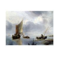 ARTİKEL Jan Van De Cappelle - A Small Vessel in Light Airs, and Another Ashore 50x70 cm KS-1319