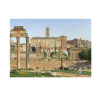 ARTİKEL Christoffer Wilhelm Eckersberg - View of the Forum in Rome 50x70 cm KS-1341