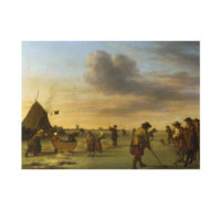 ARTİKEL Adriaen Van De Velde - Golfers on the Ice near Haarlem 50x70 cm KS-1384