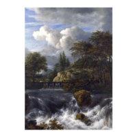 ARTİKEL Jacob Van Ruisdael - A Waterfall in a Rocky Landscape 50x70 cm KS-1509