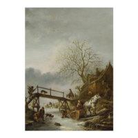ARTİKEL Isack van Ostade - A Winter Scene 50x70 cm KS-1495
