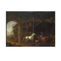 ARTİKEL Abraham van Calraet - The Interior of a Stable 50x70 cm KS-1412