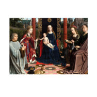 ARTİKEL Gerard David - The Mystic Marriage of St Catherine 50x70 cm KS-1335
