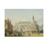 ARTİKEL Gerrit Berckheyde - The Market Place and Town Hall, Haarlem 50x70 cm KS-1485