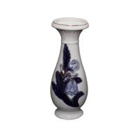 Danieli Vazo Porselen Çiçekli Lacivert 20.5 cm