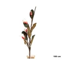 Yedifil Kuru Lale Beyaz Yapay Çiçek
