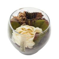 Casa di Mona Cam Fanus İçinde Doğal Malzemeler İle Dekore Edilmiş Yapay Çiçek2