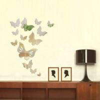 Dekorjinal Dekoratif Kırılmaz Ayna Kelebekler - MRR014