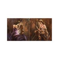 ARTİKEL Cello with Woman 2 Parça Kanvas Tablo 80x40 cm KS-690