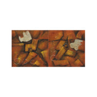 ARTİKEL Wooden Shapes 2 Parça Kanvas Tablo 80x40 cm KS-625