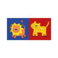 ARTİKEL Happy Animals 2 Parça Kanvas Tablo 80x40 cm KS-561