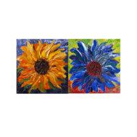 ARTİKEL Impressive Flowers 2 Parça Kanvas Tablo 80x40 cm KS-966