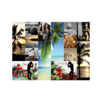 ARTİKEL Romantic Collage 2 Parça Kanvas Tablo 80x100 cm KS-608