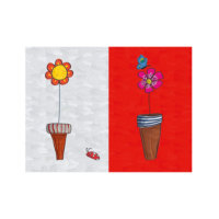 ARTİKEL Basic Flowers 2 Parça Kanvas Tablo 80x100 cm KS-563