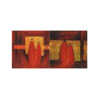 ARTİKEL The Golden Age 2 Parça Kanvas Tablo 80x40 cm KS-781