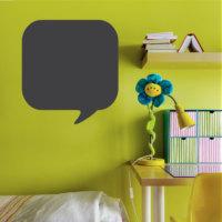 Dekorjinal Konuşma Baloncuğu Yazılabilir Yaz Sil Sticker YS34