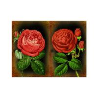 ARTİKEL Wine Red 2 Parça Kanvas Tablo 80x100 cm KS-415