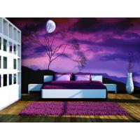 Artmodel Mor Gece Dolunay Poster Duvar Kağıdı PDM-58