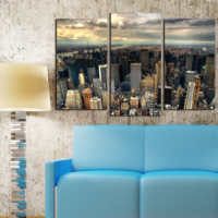 Decostil Şehir 3 Parça 81x50 Kanvas Tablo