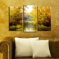 Decostil Nehir 3 Parça 81x50 Kanvas Tablo