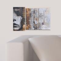 Decostil Kadın 3 Parça 81x50 Kanvas Tablo