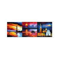 ARTİKEL Moonlit Sky 3 Parça Kanvas Tablo 40X120 Cm KS-762