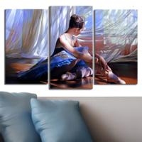 Decostil Balerin 3 Parça 81x50 Kanvas Tablo