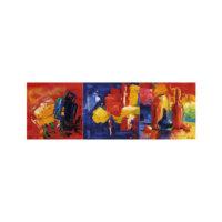 ARTİKEL Your Song 3 Parça Kanvas Tablo 40X120 Cm KS-693