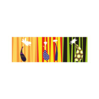 ARTİKEL Colorful Striped 3 Parça Kanvas Tablo 40X120 Cm KS-757