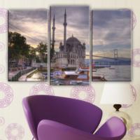 Decostil Ortaköy 3 Parça 81x50 Kanvas Tablo