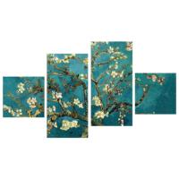 Tictac Design 4 Parça Kanvas Tablo Van Gogh Badem Çiçekleri