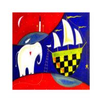 ARTİKEL Interesting Life 4 Parça Kanvas Tablo 70x70 cm KS-199