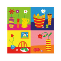 ARTİKEL Colorful Life 4 Parça Kanvas Tablo 70x70 cm KS-758