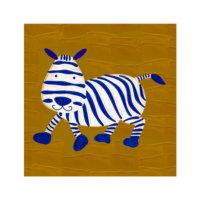ARTİKEL Cartoon Zebra 4 Parça Kanvas Tablo 70x70 cm KS-227